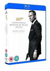 Daniel Craig James Bond 007 Triple Pack -  Casino Royale / Quantum of Solace / Skyfall (Blu-Ray) £17.99 Instore @ HMV