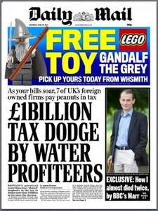 Sat newspaper roundup 29/06 - Free Lego Toy Gandalf The Grey/ Free Littlest Pet Shop Toy/Free Evian water/ Free Kingsmill loaf/Free Undercover Super Spies book/£1 camping/Free burger