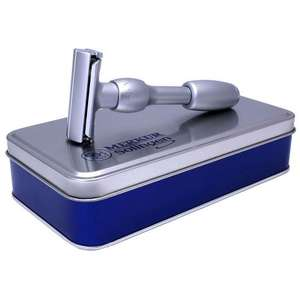 Merkur Vision Safety Razor Brushed Chrome from the traditional shaving company £74.95