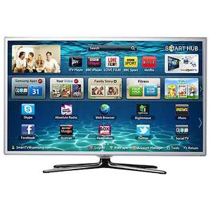 Samsung UE37ES6710 LED HD 1080p 3D Smart TV, 37 Inch with Freeview/Freesat HD, White - £549.95 John Lewis