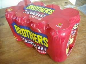 Brothers Strawberry Mixed Pear Cider 8 x 440ml Cans for £2 @ Asda