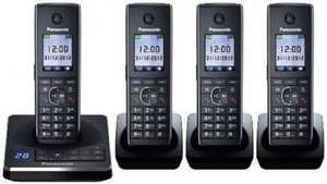 Panasonic KX-TG8564EB Cordless Telephones - Quad.£71 @ Costco