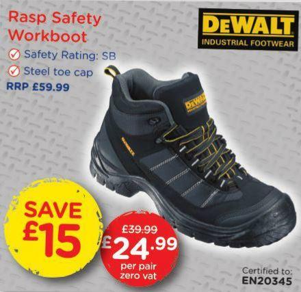 DeWALT Safety Workboot - Makro £24.99 **Zero VAT**