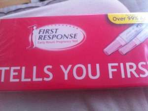 First Response Pregnancy Test 2 Pack Buy 1 Get 1 Free £10.50 at Boots