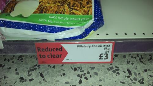 Pilsbury chakki atta £3.00 - 5KG pack @ Morrisons
