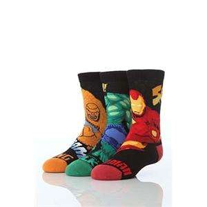 Cartoon Heroes Boy's Three Pairs Of Marvel Heroes Socks (The Hulk, Iron Man & The Thing) £2.25 at Play/Sockshop