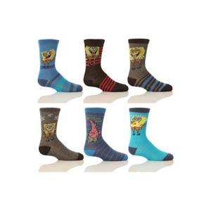 Cartoon Heroes Boy's Four Pairs Of TM Spongebob Socks £2.50 @ Play/Sockshop