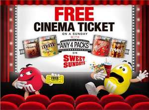 Tesco Mars 315g Share Packs £1.50 w/th Sweet Sundays promo, so £3.00 for a cinema ticket!