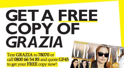 Free Grazia Magazine