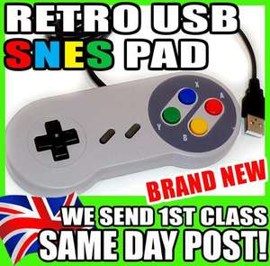 USB PC Retro Gaming Controller Joypad Snes Style Pad £3.94 @ Ebay/ The Ninja's Castle