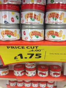 JELLY BELLY CANDLES WERE £4 EACH, NOW £1.75 AT TESCO