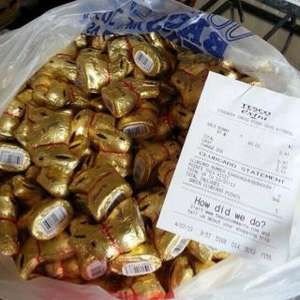 Lindt Gold Bunnies scanning at 1p in Tesco