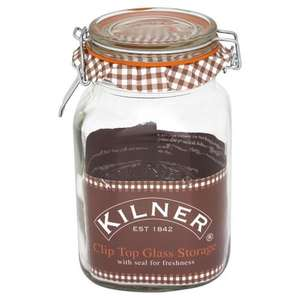 Kilner jars and storage discounted at Wilkinson's - e.g. 1.5L £2.25