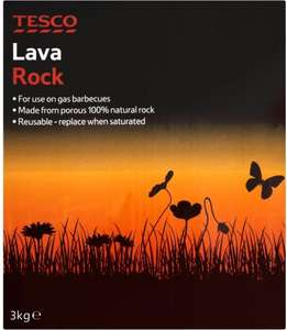 Tesco BBQ Lava Rock, 3KG Only 50p instore @ Tesco