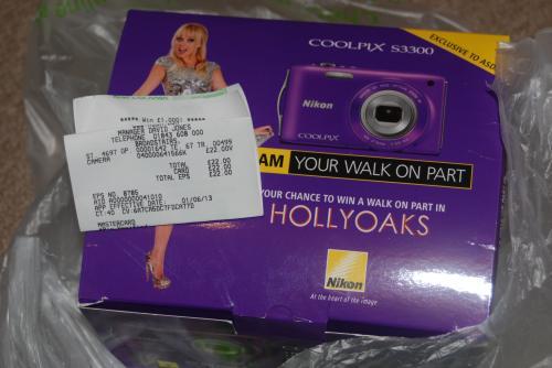 hollyoaks purple s3300 nikon kit £22.00 @ Asda instore