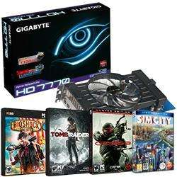 Gigabyte radeon 7770 overclocked with 4 FREE GAMES for £86.33 delivered @ Aria