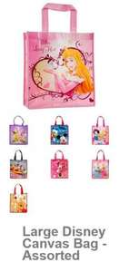 Disney Large Canvas Tote Bags! Mickey,Minnie,Tinkerbell,Pooh,Princess £1 - Poundland Bargains!