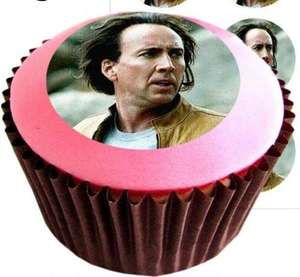 12 Nicolas Cage Edible Cake Toppers - £1.69 @ Amazon / The Lazy Cow Printing Company Ltd