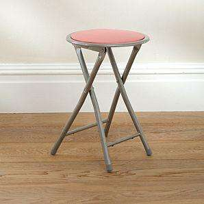 Pink or Black Folding Stool £3.75 with code @ Asda Direct