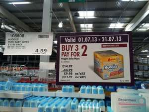Huggies Baby Wipes 18x64 £11.97 @ Costco