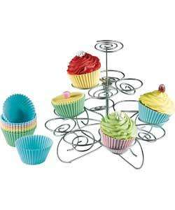 Cupcake Stand - Silver, Reduced To £2.99 R&C @ Argos