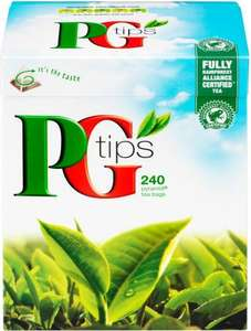 PG Tips Tea Bags 240's @ One Stop ~ HALF PRICE ~ £2.84