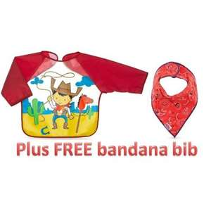 Nuby Baby feeding bibs half price £3, plus £3 off with £10 spend @Nuby