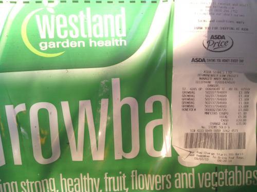 Westland 38L Growbag £1 @ ASDA (usually £2)