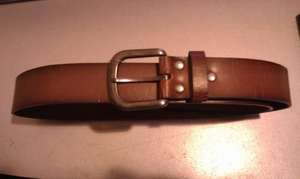 Primark Men's Brown Leather Belt, was £5, scans at £2