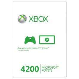 Buy 4200 Microsoft Points £29.99 turn them back into £