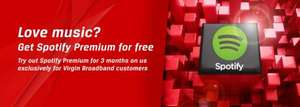 3 months free Spotify Premium for Virgin Media customers