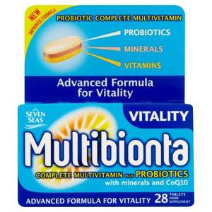 Seven Sea's Multibionta Vitality 28tablets. @ Home Bargains 99p