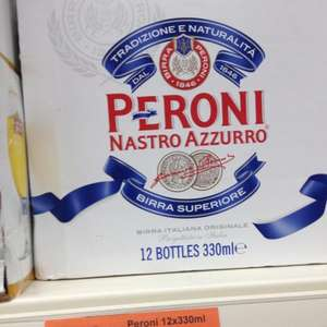 12 x 330ml bottles of Peroni beer @ Sainsburys instore - £8