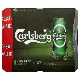 30 x 440ml 2x15 Cans Of Carlsberg Lager £16 @ Asda
