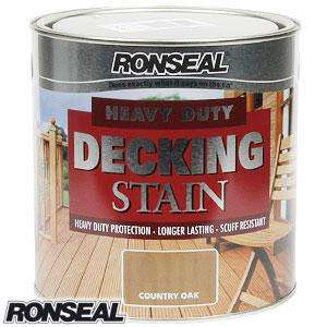 Ronseal Heavy Duty Decking Stain: Country Oak £8.99 Home Bargains