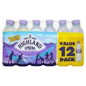 Highland Spring Still Water,12 x500ml for £2 @Tesco,milk&more
