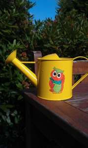 Children's mini metal watering can 75p in Asda Chesser Edinburgh store