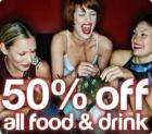 50% off food and drink - various bars in Central London