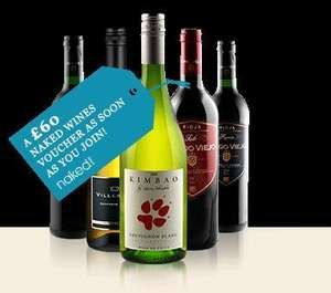create an acount with jamie oliver and get a £60 naked wines as soon as you join