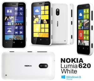 Nokia 620 Lumia ... White OR Black  ... As New ... £94.99 Including £10 TopUp @ Virgin Mobile