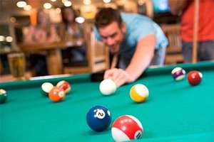 2 Hours of snooker, a burger, and a years membership for 2 people for £8 @ Groupon / Rileys SPORTS Bar