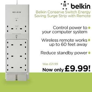 Belkin Conserve Switch™ Surge Protector with Remote £10.97 delivered  (was £21.99) @ DABS.com