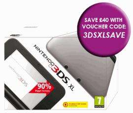 Nintendo 3DSXL Silver - £144.94 with code 3DSXLSAVE @ Game