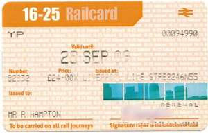 Free 4 year 16-25 railcard just for opening a santander student account.