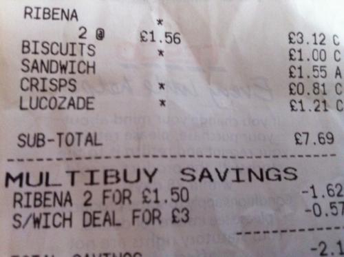 8 x Ribena 200ml Potentially £1.00 after TCB via Tesco Express Wembley - £1.50