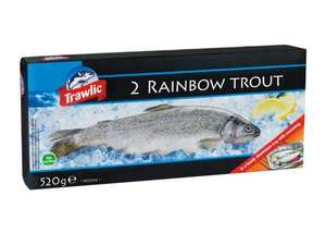 Two Rainbow Trout - 520g - Excellent for the barbie - Instore Lidl now £2.49