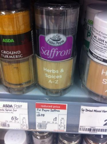 Saffron £1 at Asda