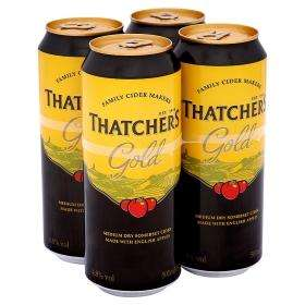 Thatchers Gold 4 x 500ml cans £3.40 in Asda