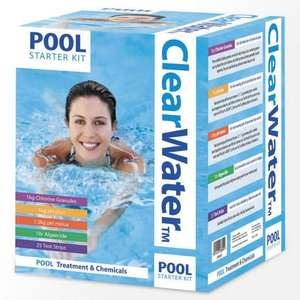 Clearwater Swimming/Paddling Pool Starter Kit (Chlorine/Anti-Algae/PH+-/Test Strips) - £19.99 @ The Range