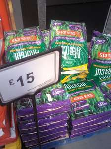 Aftercut lawn feed & conditioner 500m2 bag £15 @ B&Q